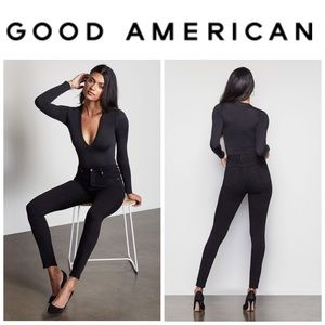 Good American Good Waist Jeans in Black